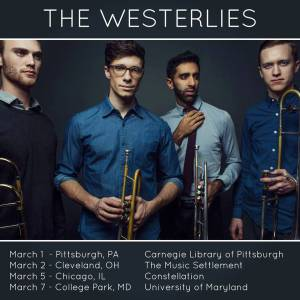 Westerlies Tour Poster spring 2015